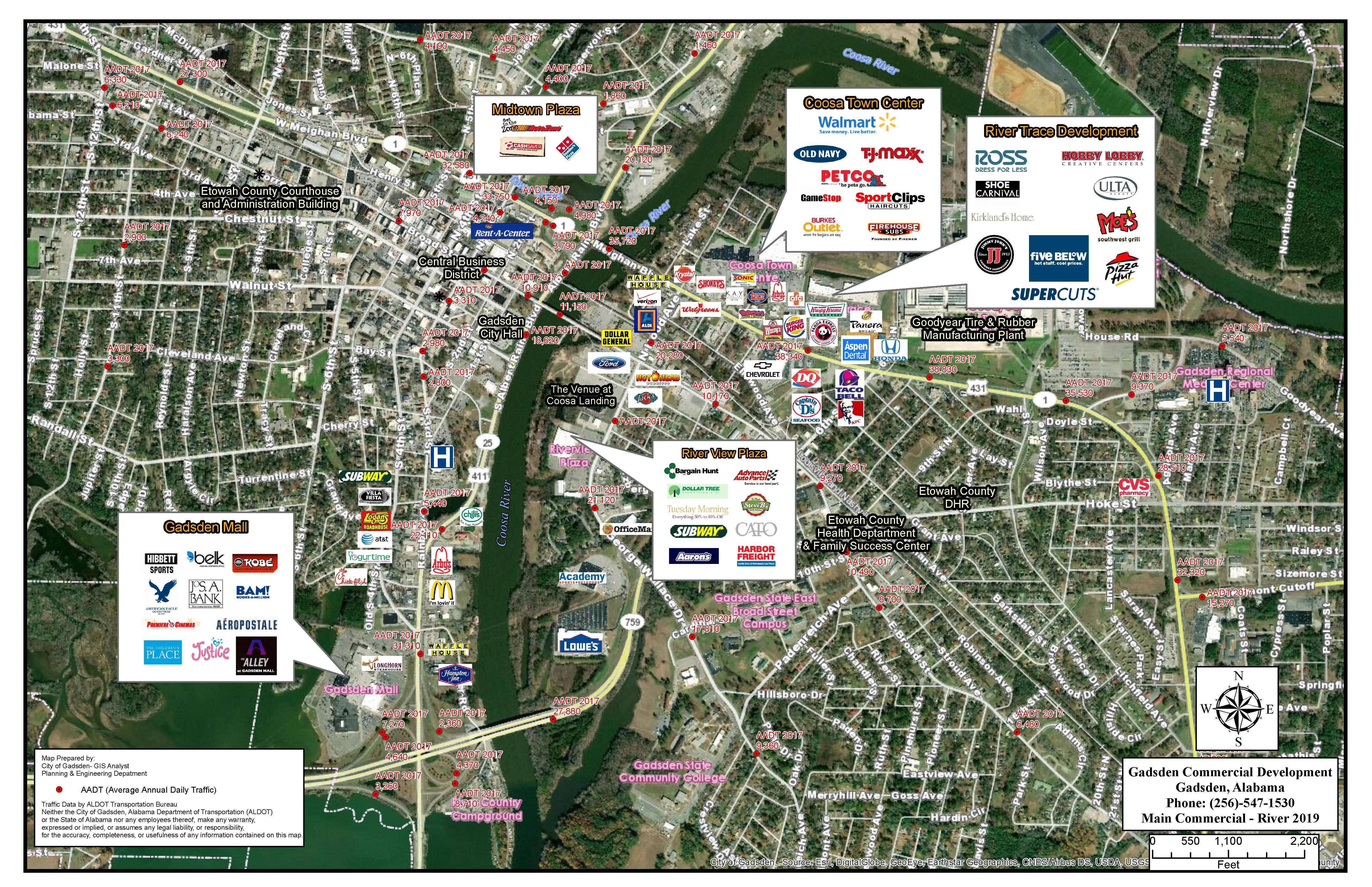 Gadsden Retail Map